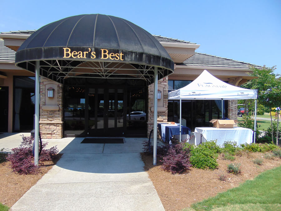 front entrance of Bear's Best clubhouse