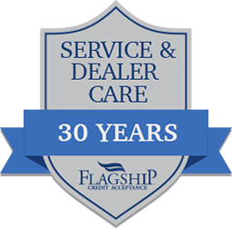 shield with service & dealer care, 30 years, on it